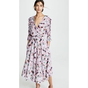 IRO Liky Midi Dress in Lilac Floral, US Size 0